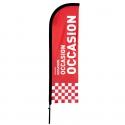 Drapeau Occasion rouge - Beach flag voile + mât