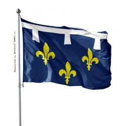 Pavillon Orléanais dans drapeau province française Unic
