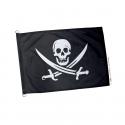Pavillon pirate noir et blanc
