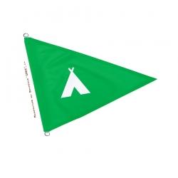 Drapeau camping flamme verte fabricant drapeaux Unic