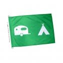Drapeau camping caravaning pavillon vert