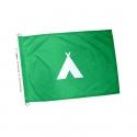 Drapeau camping pavillon vert