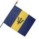 Drapeau Barbade drapeau du monde Unic