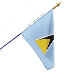 Drapeau Sainte Lucie dans drapeaux des pays