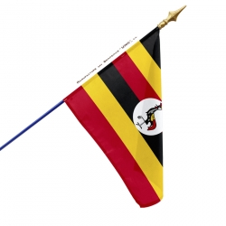 Drapeau Ouganda dans drapeaux des pays d'Afrique