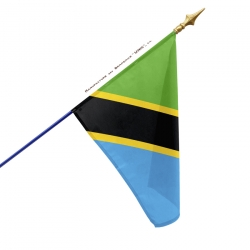 Drapeau Tanzanie dans drapeaux des pays d'Afrique Unic