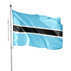 Pavillon Botswana drapeau du monde sur mât