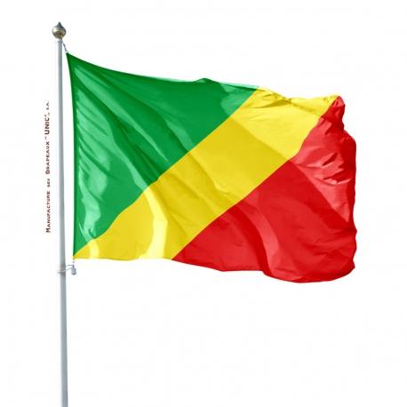 Pavillon Congo dans pays d'Afrique Unic