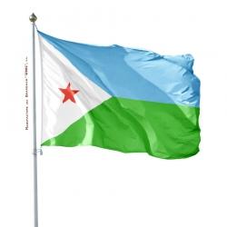 Pavillon Djibouti dans drapeaux Pays d'Afrique