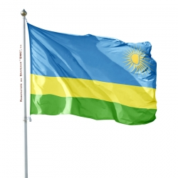 Pavillon Rwanda drapeaux des pays d'Afrique Unic
