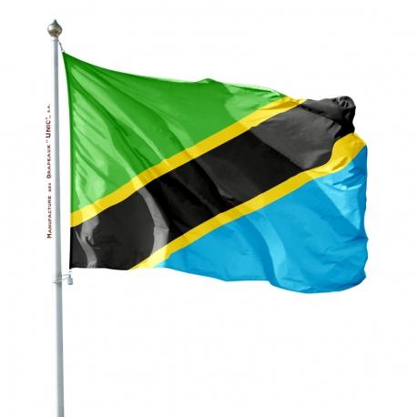 Pavillon Tanzanie dans drapeaux des pays d'Afrique Unic