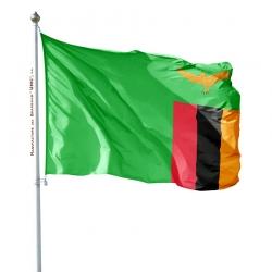 Pavillon Zambie dans drapeaux des pays d'Afrique Unic