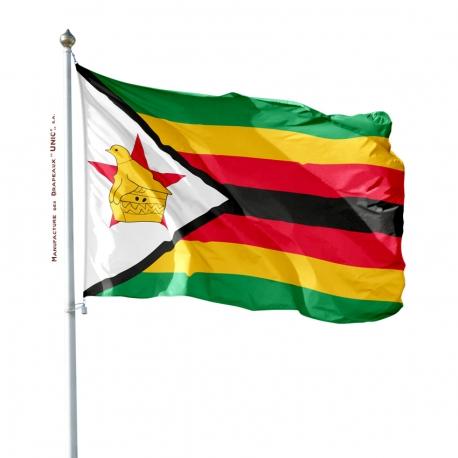Pavillon Zimbabwe dans drapeaux des Pays d'Afrique Unic
