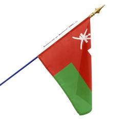 Drapeau Oman dans drapeaux des pays d'Asie