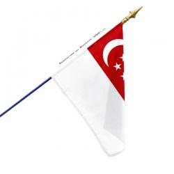 Drapeau Singapour drapeaux des pays Unic