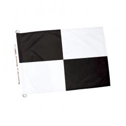 Drapeau sauveteur noir et blanc Drapeaux Unic