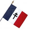 Drapeau France Croix de Lorraine Noire