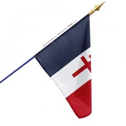 Drapeau France Croix de Lorraine rouge