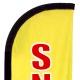 Drapeau Snack jaune - Beach flag voile + mât