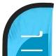 Drapeau Accueil - Beach flag voile + mât