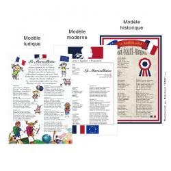 Poster La Marseillaise pavoisement des Ecoles loi Blanquer Drapeaux Unic