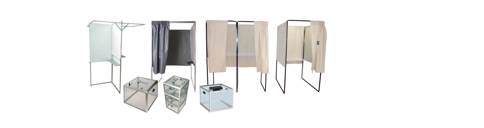 Isoloir de vote et urne électorale au meilleur prix