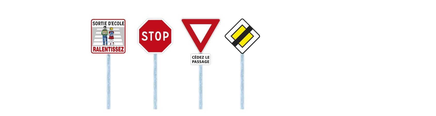 Sécurité maximale panneaux de route signalisation Ecoles